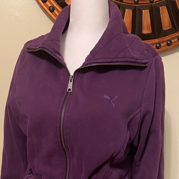 Puma Quilted Lifestyle Jacket Purple Large